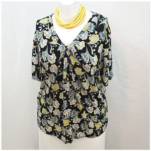 Tops - *PLUS* Abstract Paisley Top, size 1X